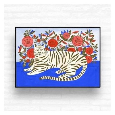 """Tiger in the Garden"" print"