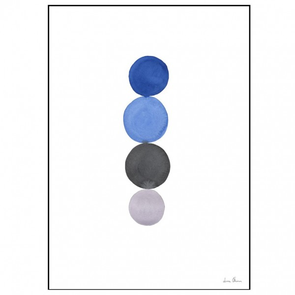 Illustration blue circles