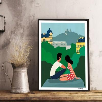 """Affiche """"Les Buttes Chaumont"""""""