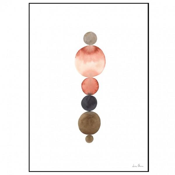 Illustration orange circles