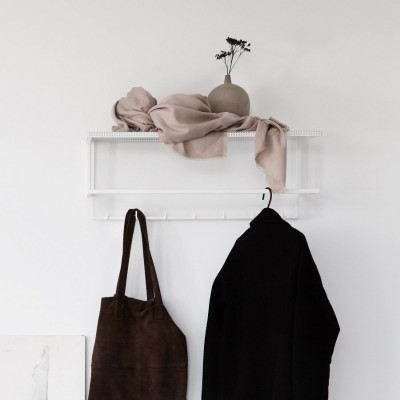 White grid coat hanger