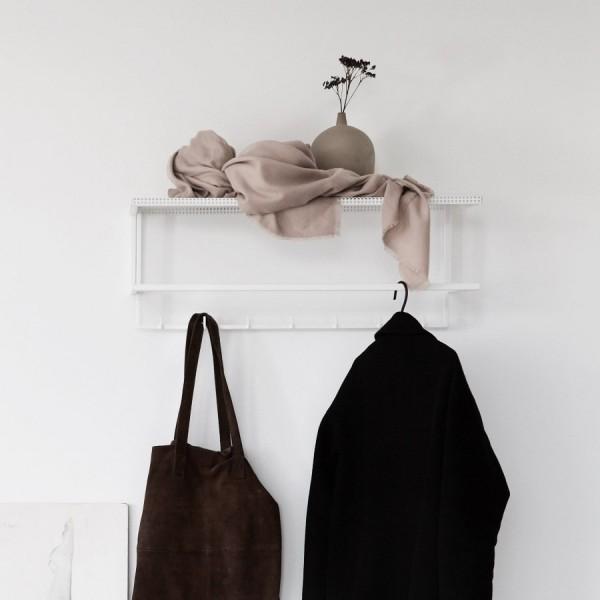 White grid coat hanger