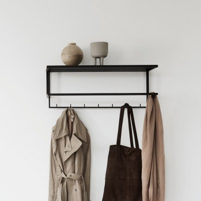 Black grid coat hanger