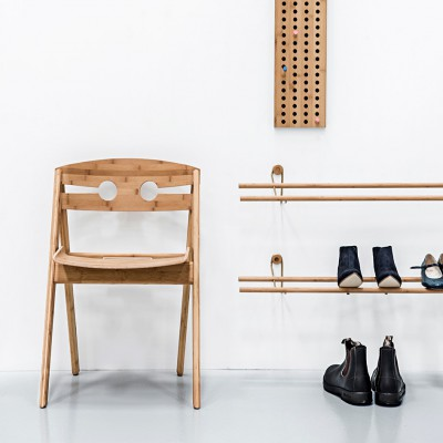 Shoe Rack Black & Brass