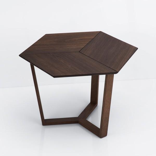 Table 3D Danoise chêne foncé