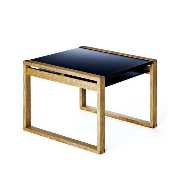 Table Cadre Noir et Bois naturel