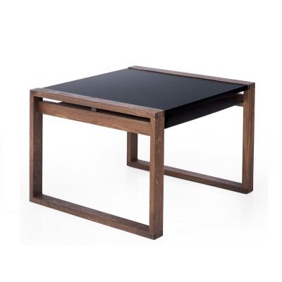 Table Cadre Noir et Bois teinté