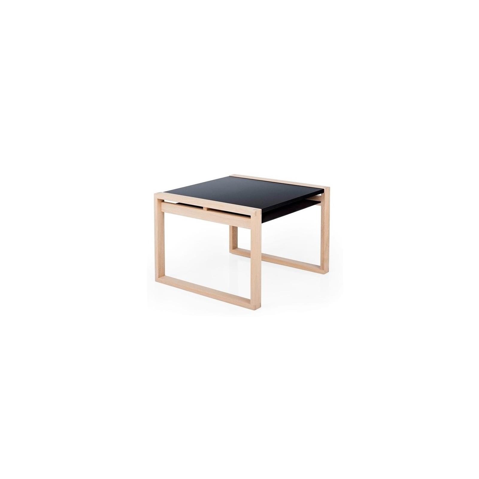 table cadre noir et bois brut arne concept. Black Bedroom Furniture Sets. Home Design Ideas