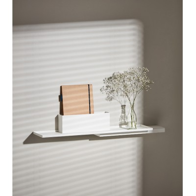 White Duplex Wall Shelve