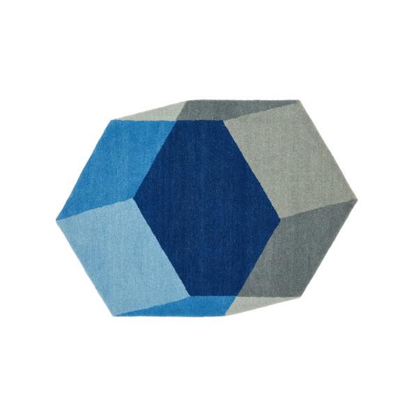 Tapis Relief bleu