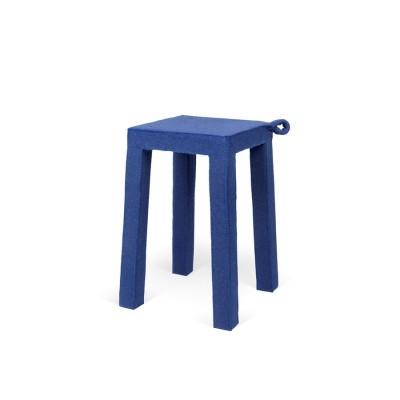Tabouret Velours Bleu