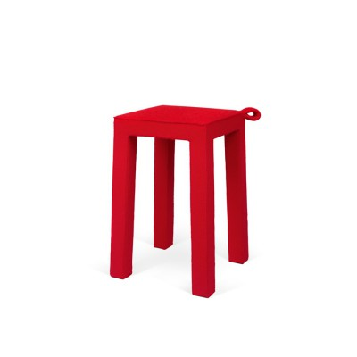 Tabouret Velours Rouge