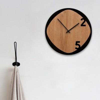 Horloge Noir et Bois