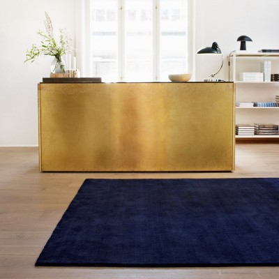 Bambou Earth rug Blue vibrant
