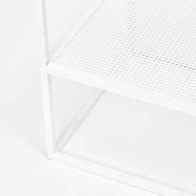 grid coat stand White