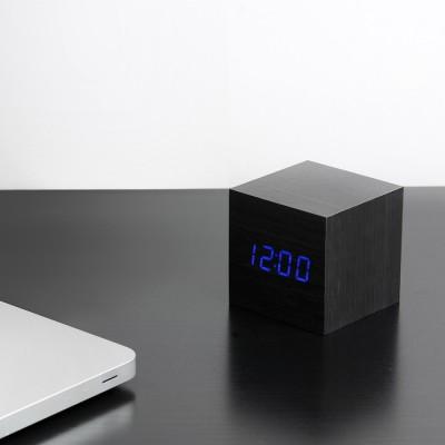 Black squared clock