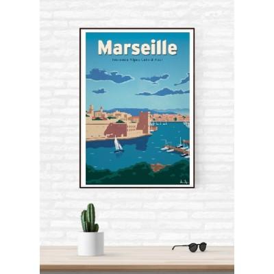 """Illustration """"Marseille"""""""