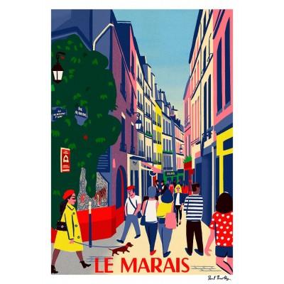 """Affiche """"Le Marais"""""""