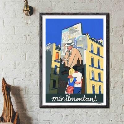 """""""Menilmontant"""" Print"""