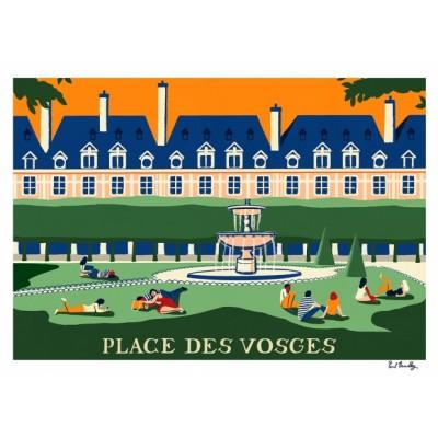 """Affiche """"Place des Vosges"""""""