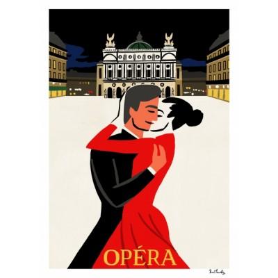 """""""Place de l'Opera"""" Print"""