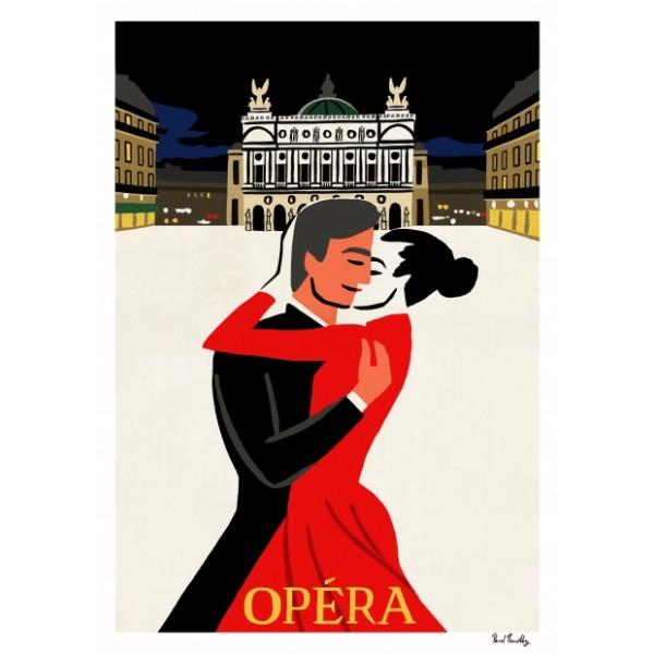 """Affiche """"Place de l'Opera"""""""