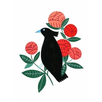 """Black Bird"" print"