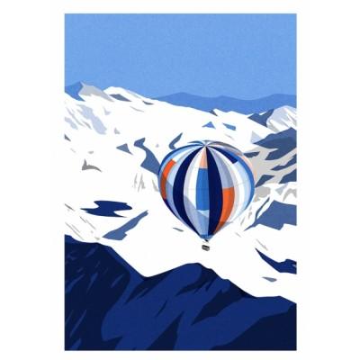 """Affiche """"La Vallée Blanche"""""""