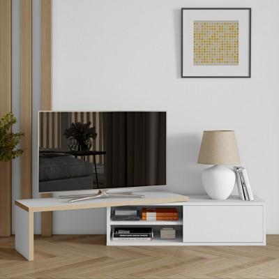 Meuble TV Modulaire contreplaqué & blanc