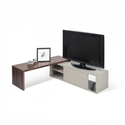 Meuble TV Modulaire noyer & gris
