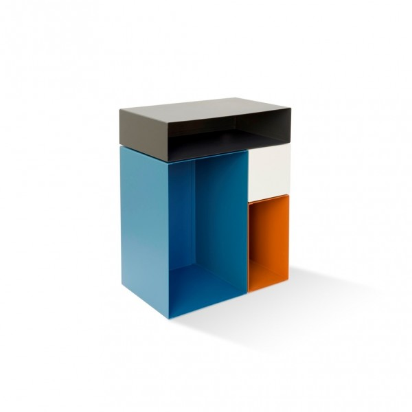 Side Table Kase yellow & Blue
