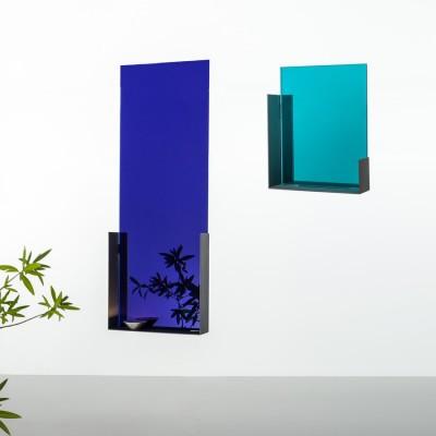 Miroir Mood bleu profond