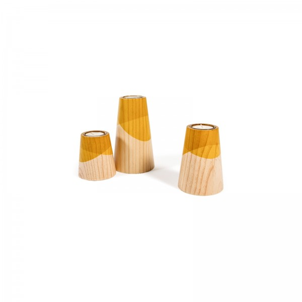 Set of Three Mini Etna Yellow