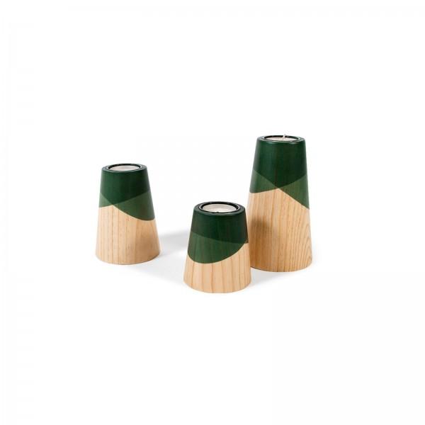 Set of Three Mini Etna Green