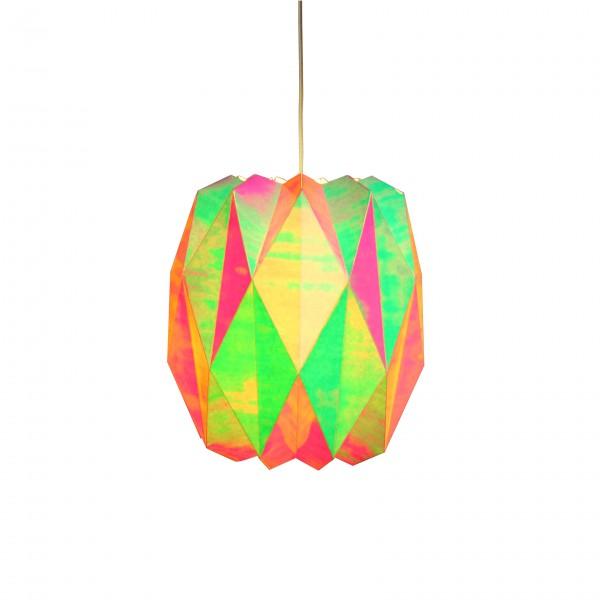 Suspension iridescente boule
