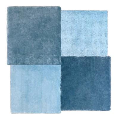 Tapis Patchwork Bleu