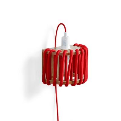 Red macaron Wall Light