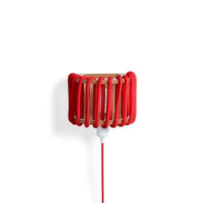 Red macaron Wall Light