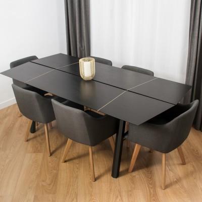 Dining Table Savia Ash Black