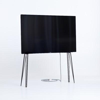 Support TV Métal Noir