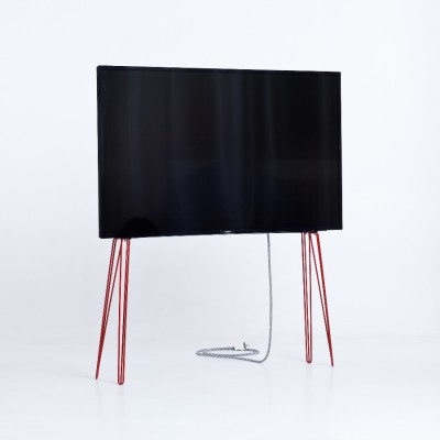 Support TV Métal rouge