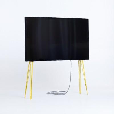 Support TV Métal jaune