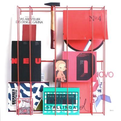 Grande étagère ARTY Rouge